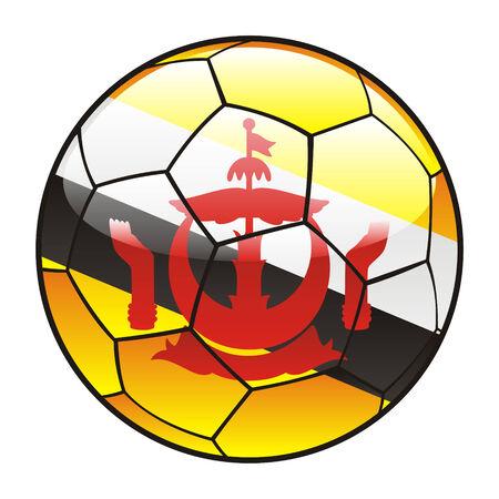 brunei: vector illustration of Brunei flag on soccer ball Illustration