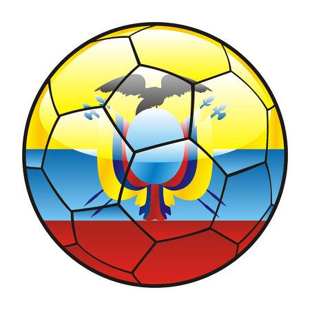 vector illustration of Ecuador flag on soccer ball Vector