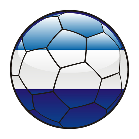 vector illustration of El Salvador flag on soccer ball Vector