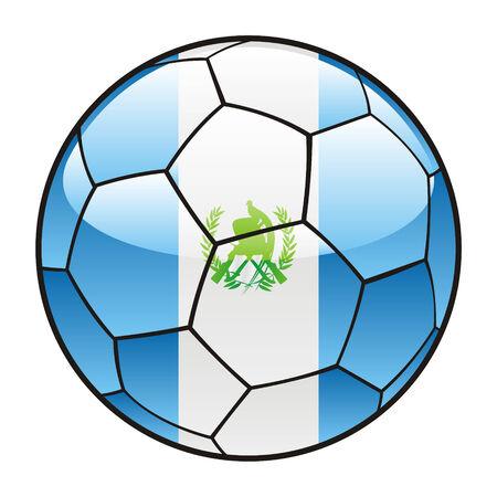 guatemala: vector illustration of Guatemala flag on soccer ball