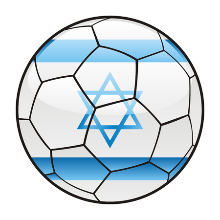 vector illustration of Israel flag on soccer ball Stock Vector - 7370230