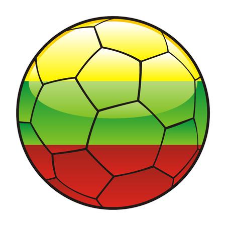 lithuania flag: vector illustration of Lithuania flag on soccer ball Illustration