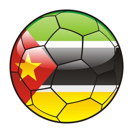 mozambique: vector illustration of Mozambique flag on soccer ball Illustration