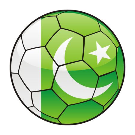 pakistan flag: vector illustration of Pakistan flag on soccer ball Illustration