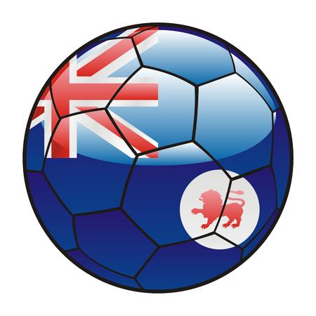 tasmania: vector illustration of Tasmania flag on soccer ball Illustration