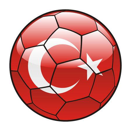 vector illustration of Turkey flag on soccer ball Vector
