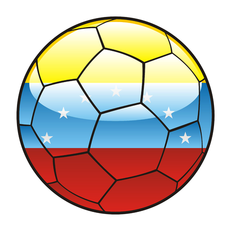 vector illustration of Venezuela flag on soccer ball Vector