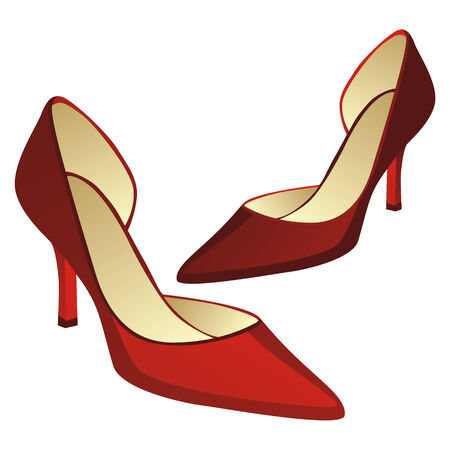 upscale: fully editable illustration of high heel pair of shoes Illustration