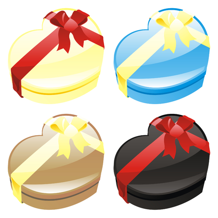 illustration of gift boxes in heart shape Vector