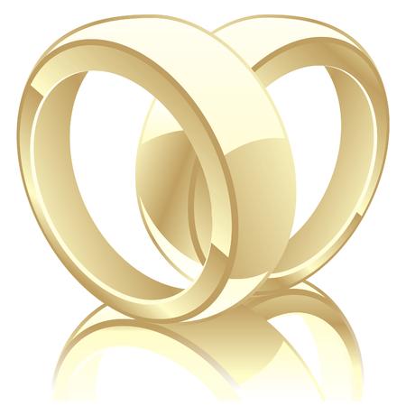 fully editable illustration of wedding rings Vector