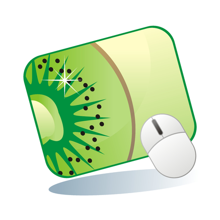 mousepad: fully editable vector illustration of isolated mousepad