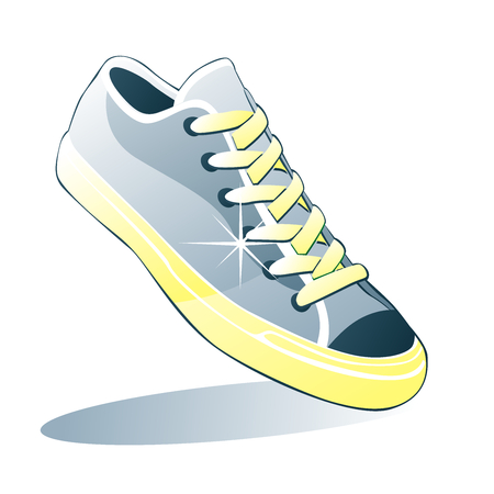 fully editable vector illustration of isolated shoes Vector