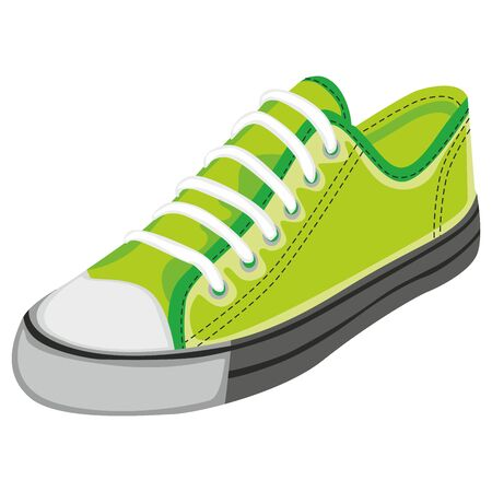 sneaker: fully editable  illustration of isolated shoes Illustration