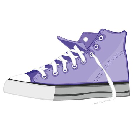 fully editable   illustration of isolated shoes Vector