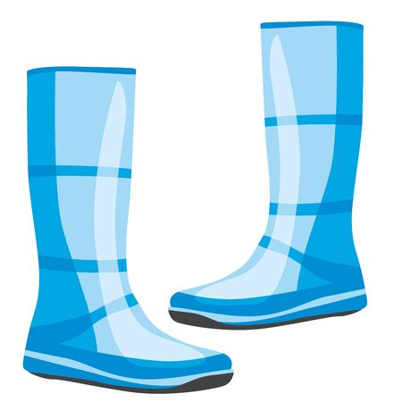 wellie: fully editable  illustration of isolated rubber boots