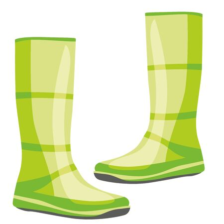 fully editable   illustration of isolated rubber boots Stock Vector - 7809922