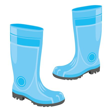 fully editable  illustration of isolated rubber boots Stock Vector - 7809927