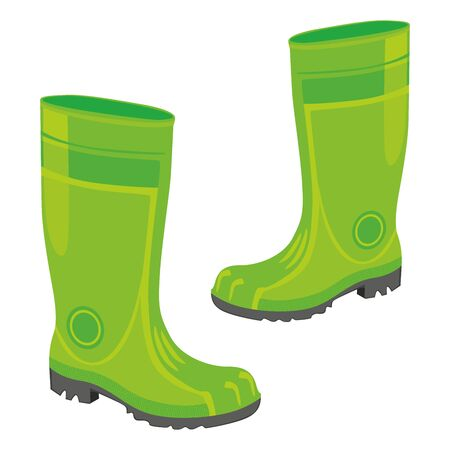fully editable  illustration of isolated rubber boots Stock Vector - 7809926