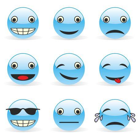 fully editable illustration emoticons Vector