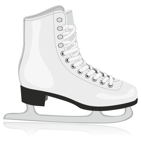 figure skater: fully editable  illustration of isolated ice skates Illustration