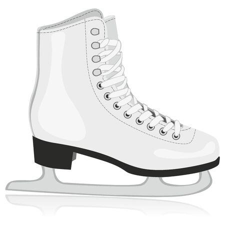 patinaje: Ilustraci�n totalmente editable de aislados de patines para hielo