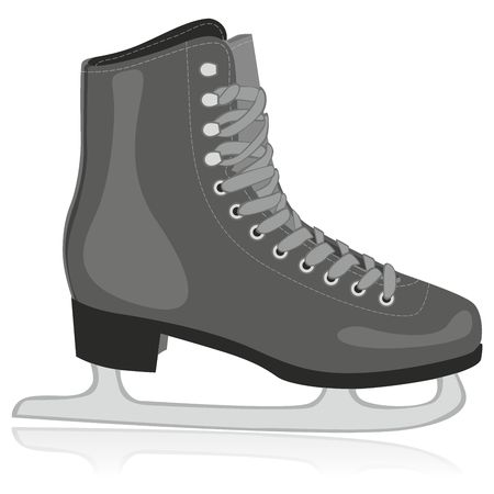 fully editable illustration of isolated ice skates Vector