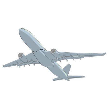 airman: fully editable  illustration airliner