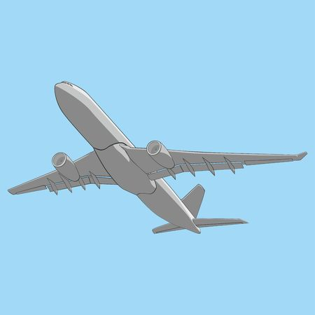 airway: fully editable   illustration airliner