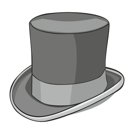 top hat: fully editable   illustration of isolated topper