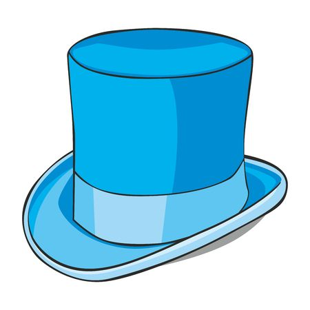top hat: fully editable  illustration of isolated topper Illustration