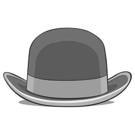 fully editable  illustration of one hat derby Vector