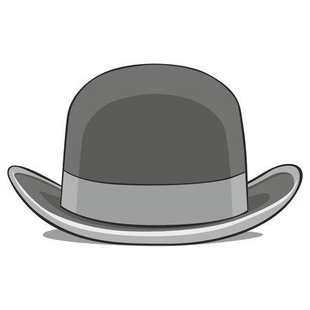 bouliste: illustration enti�rement modifiable de derby un chapeau