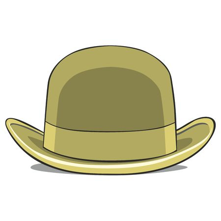 derby hats: fully editable  illustration of one hat derby