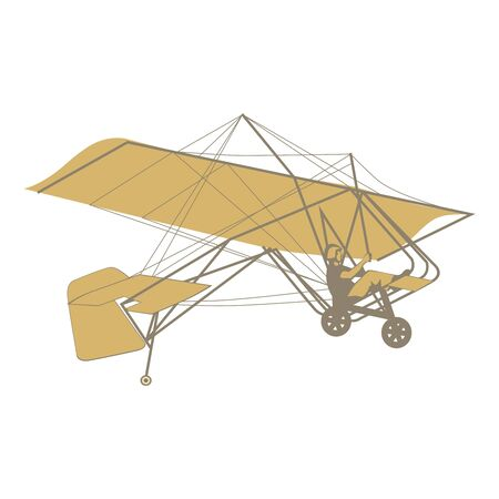 glider: fully editable   illustration of isolated glider Illustration