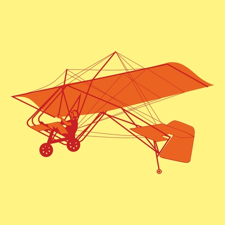 glider: fully editable  illustration of isolated glider