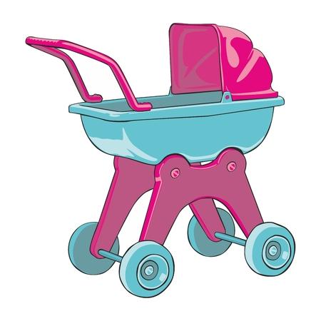 fully editable   illustration baby-car Vector