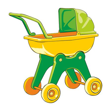 fully editable  illustration baby-car Stock Vector - 7810098