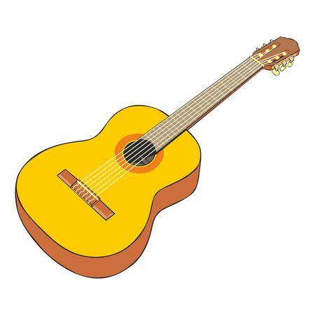 fully editable: fully editable  illustration classic guitar