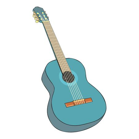 fully: fully editable  illustration classic guitar