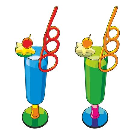 cocktail umbrella: fully editable   illustration of cocktail Illustration
