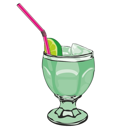 fully editable  illustration of cocktail Vector