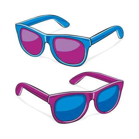 fully editable   illustration of sun glasses Vector