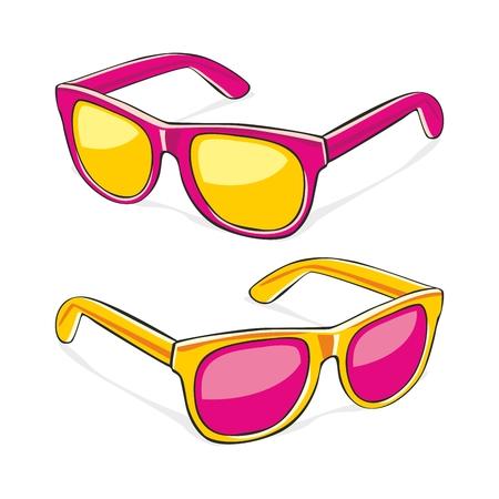 fully editable illustration of sun glasses Stock Vector - 7810063