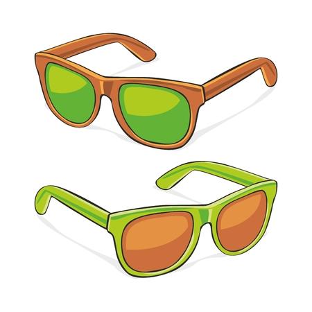 fully editable   illustration of sun glasses Vector
