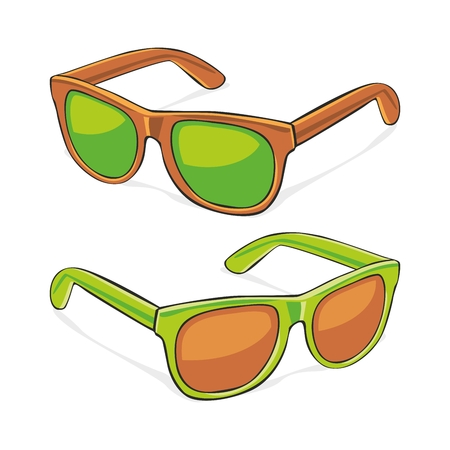 sun  glasses: fully editable   illustration of sun glasses
