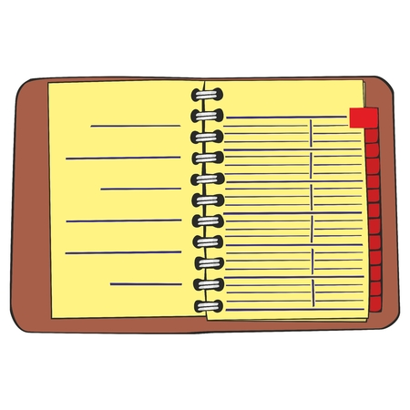moleskin: fully editable  illustration notebook
