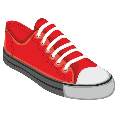 fully editable: fully editable  illustration of isolated shoes Illustration