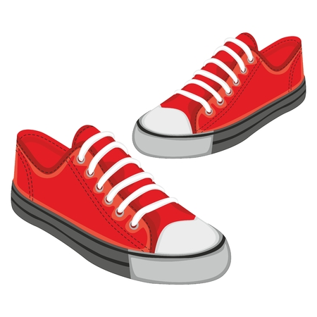 fully editable illustration of isolated shoes