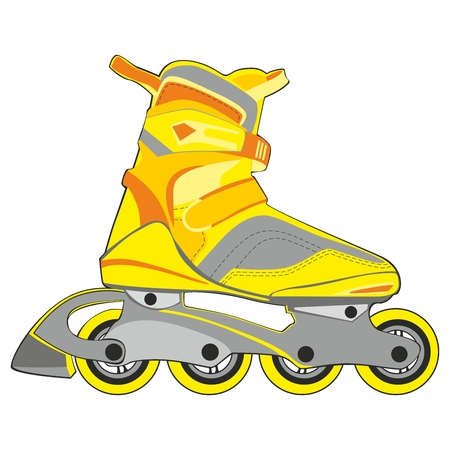 fully editable   illustration of isolated roller skates Vector