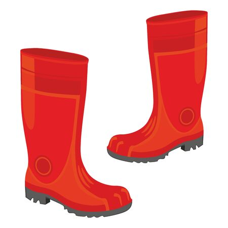 fully editable illustration of isolated rubber boots Stock Vector - 7810113
